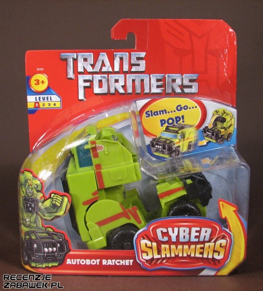 tf movie cyber slammers ratchet pudełko
