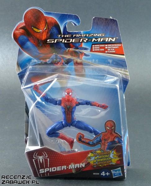 amazing spiderman pozowalny spiderman pudełko
