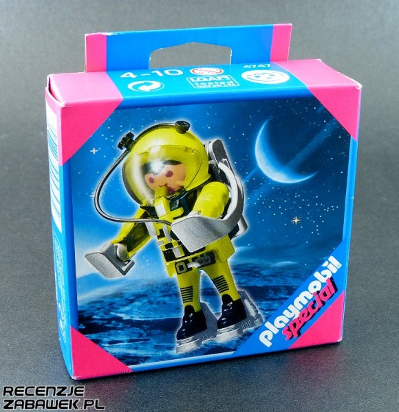 playmobil astronauta pudełko