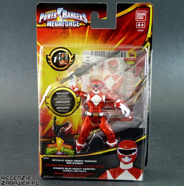 pr megaforce metallic mmpr red ranger pudełko