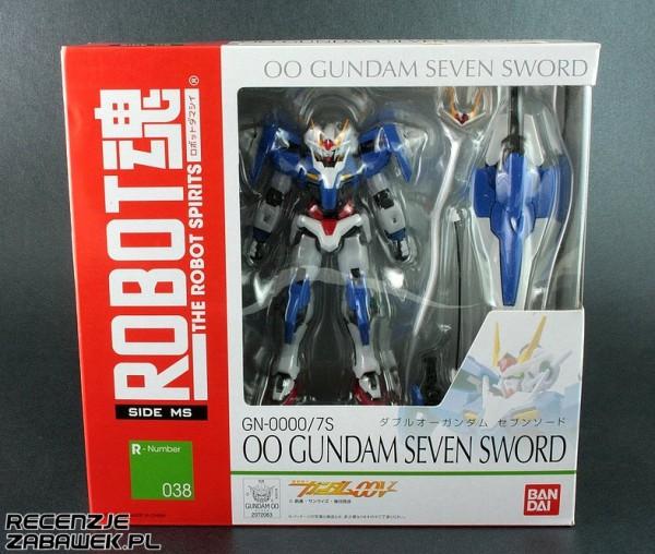 robot spirits 00 gundam seven sword pudełko