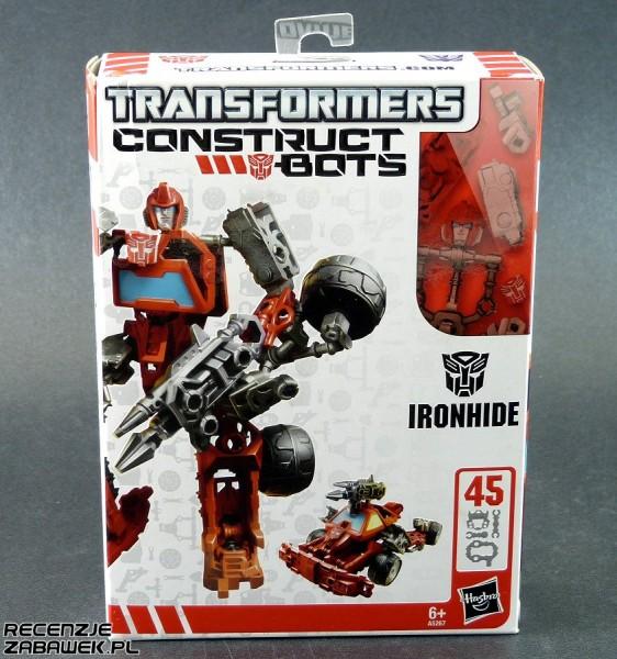 tf construct-bot scout ironhide pudełko