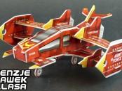 puzzle 3d samolot bojowy