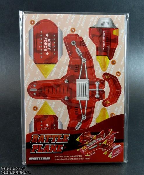 puzzle 3d samolot bojowy 1 pudełko