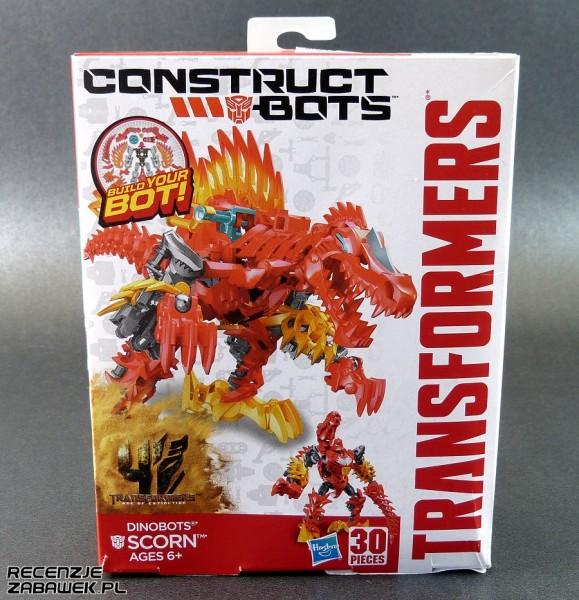 tf construct-bots dinobot scorn pudełko