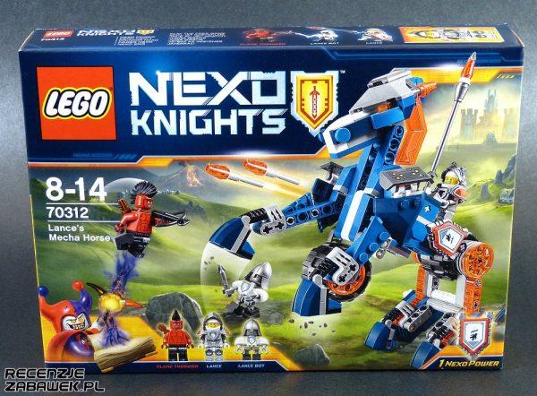 lego nexo knights mechaniczny koń lance'a pudełko