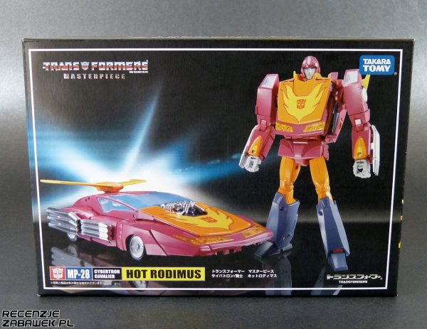 tf masterpiece mp-28 hot rodimus pudełko